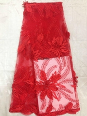 lace fabric for fashion show with  beaded sequins