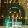 酒店大堂喷水池玻璃户外观景装饰