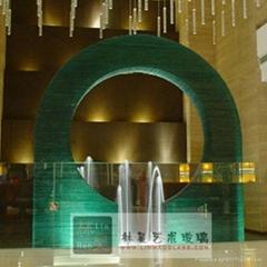 酒店大堂噴水池玻璃戶外觀景裝飾玻璃
