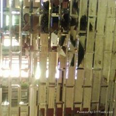 電視沙發大堂藝朮玻璃拼鏡