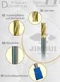 Waveform carbide thread end mill machine