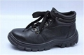 safety work shoes 8055-1 embossed leather pu outsole 3