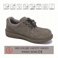 safety work shoes 8009-1 suede leather pu outsole
