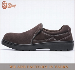 safety work shoes 8020 suede leather pu outsole
