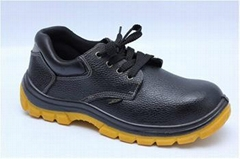 safety work shoes 9145-3 embossed leather pu outsole