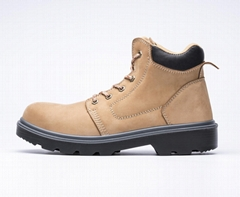 nubuck leather pu outsole safety work shoes