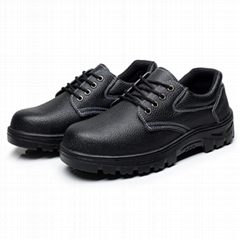 safety work shoes 9087 embossed leather pu outsole