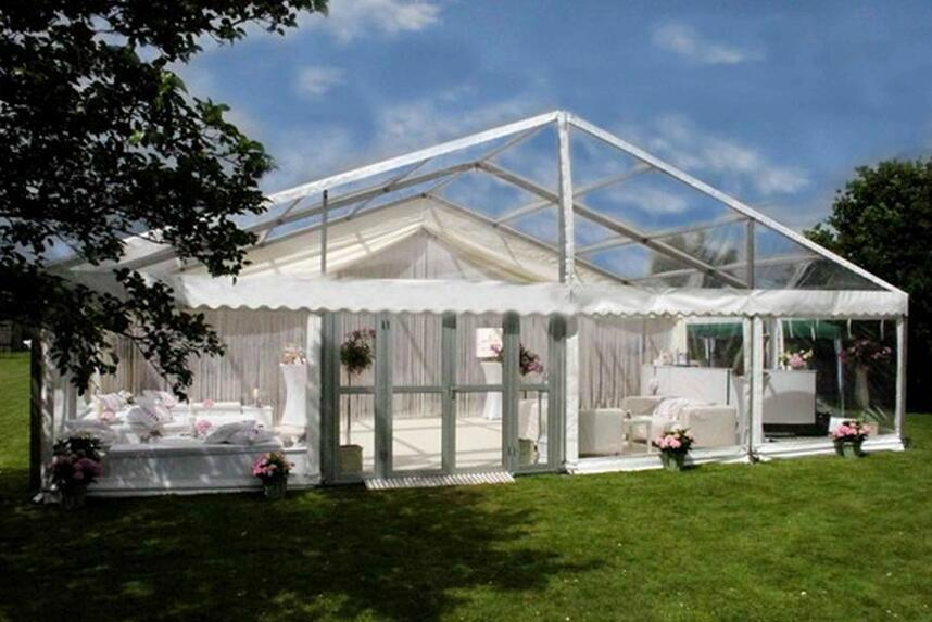 Chian outdoor clear roof wedding party tent 1