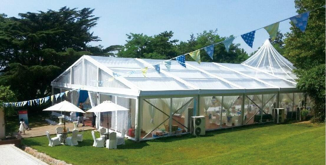Chian outdoor clear roof wedding party tent 2