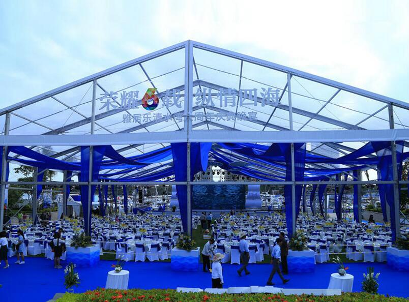 Chian outdoor clear roof wedding party tent 4