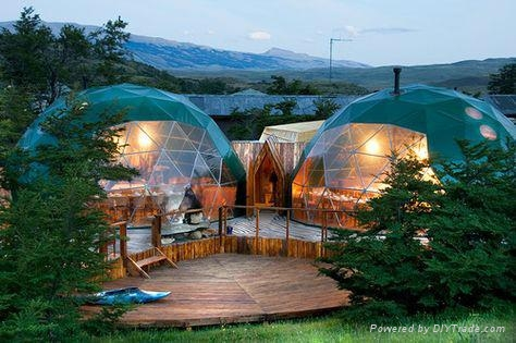 Aluminum Luxury Mongolian Used Steel Frame Yurt Tents For Camping House 1