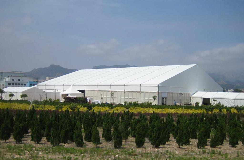 Large Size ABS Wall Aluminum Alloy Frame Industrial Construction Storage Tent 1
