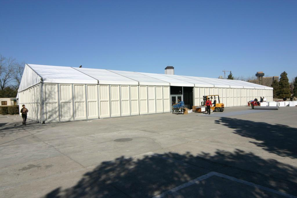 Large Size ABS Wall Aluminum Alloy Frame Industrial Construction Storage Tent 3