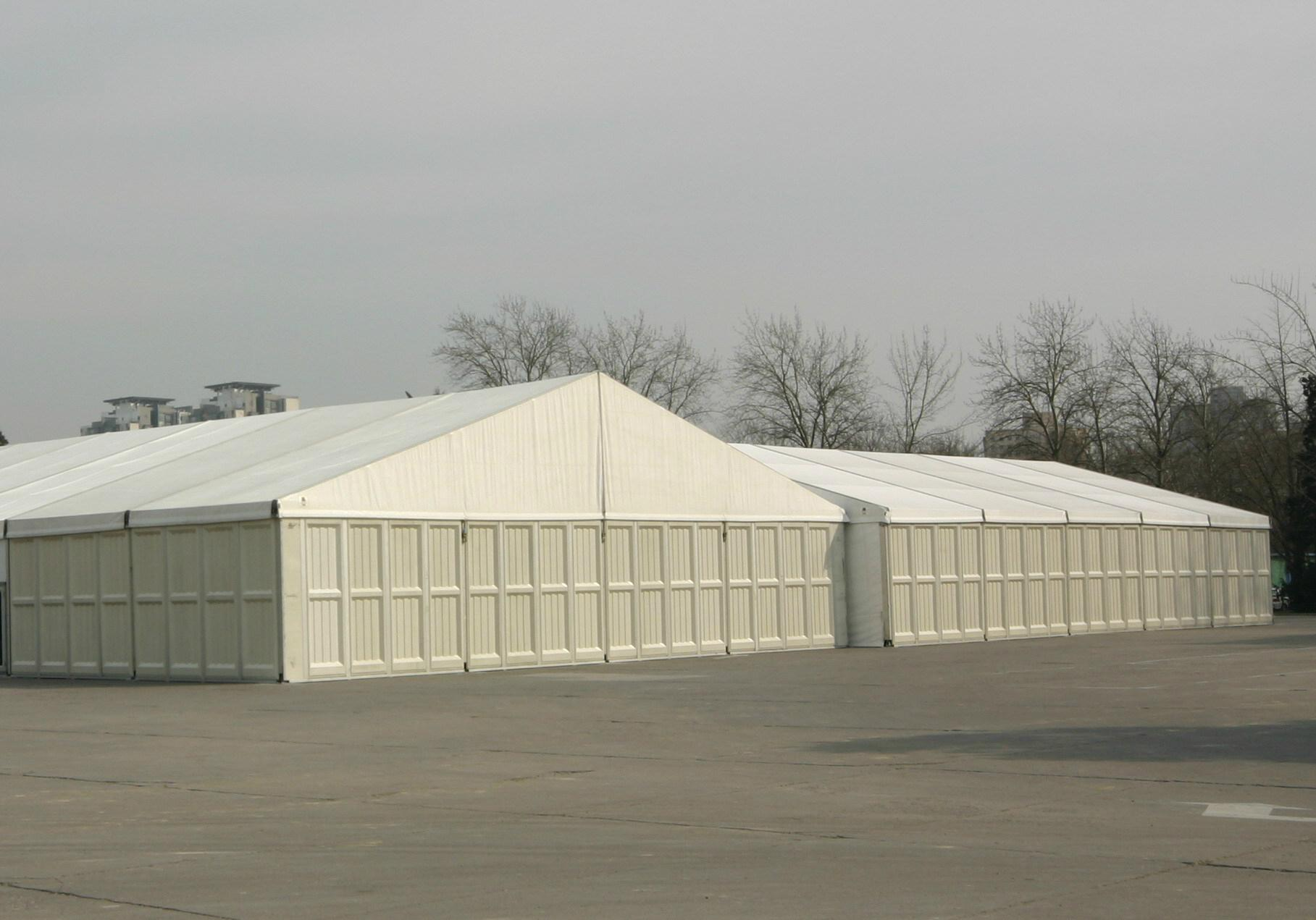 Large Size ABS Wall Aluminum Alloy Frame Industrial Construction Storage Tent 5