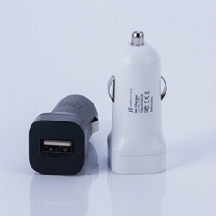 CE certificated DC12V usb car charger single port