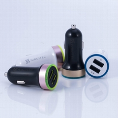 2 USB Port Car Charger DC5V 2.1A with Ce