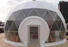 5-50m igloo dome tent aluminum frame structure, water proof PVC roof round dome