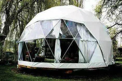 5-50m igloo dome tent aluminum frame structure, water proof PVC roof round dome  2