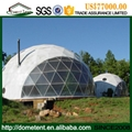 4-60m igloo dome tent aluminum frame structure, water proof PVC roof round dome  2