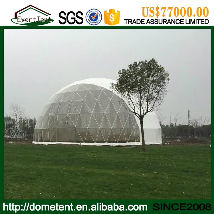 4-60m igloo dome tent aluminum frame structure, water proof PVC roof round dome  3