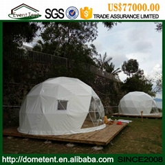 Shapely Aluminum Alloy Facet Dome Tent With Ventilation Windows