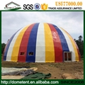 Shapely Aluminum Alloy Facet Dome Tent With Ventilation Windows 2