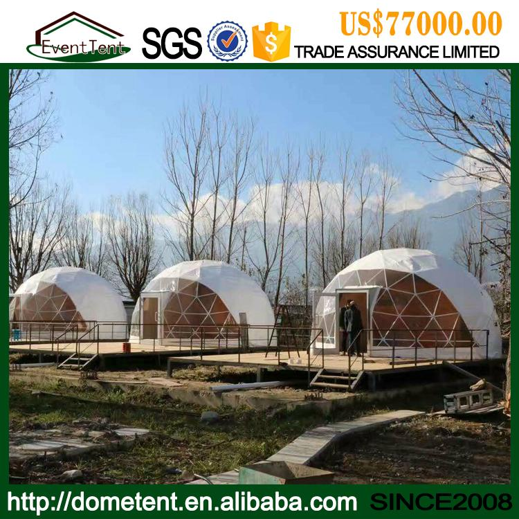 Shapely Aluminum Alloy Facet Dome Tent With Ventilation Windows 4