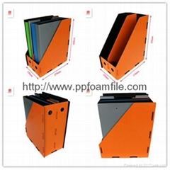 A4 PP foam vertical 2 layer magazine