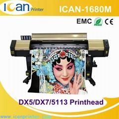 ICAN-1680M Multicolor Inkjet machine Digital Solvent Inkjet Printer Double Dx5 H