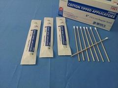 Wooden stick sterile cotton swab