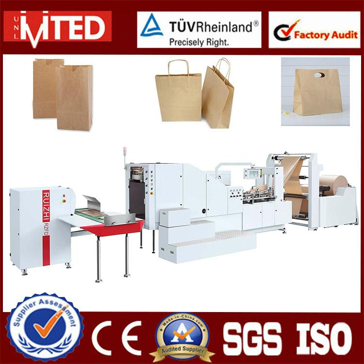 Shopping Flat Bottom Paper Bag Folding Gluing Forming Machine 1