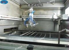 鑫建诚塑胶工件两轴自动往复喷漆机