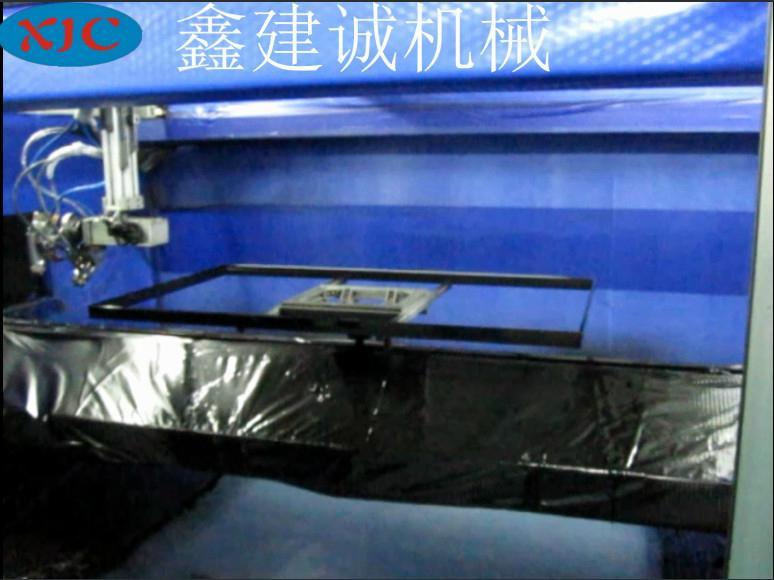 鑫建誠客戶定製液晶電視框五軸自動噴漆機 1