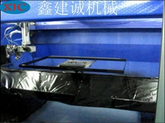 鑫建誠客戶定製液晶電視框五軸自動噴漆機