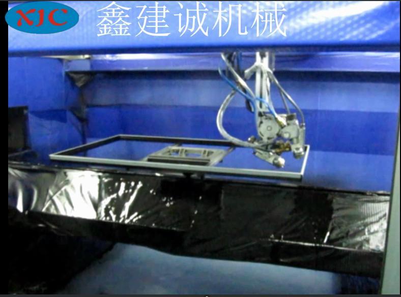 鑫建誠客戶定製液晶電視框五軸自動噴漆機 4