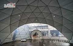 Steel Dome Tents Half Sphere Tent With Colorful PVC Fabric