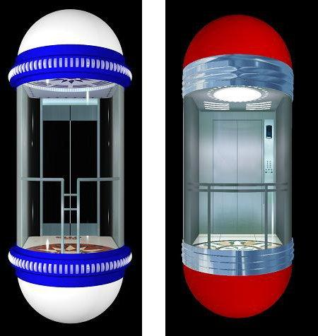Whole Glass Panoramic 13,10,8,6 Person Passenger Elevator 1