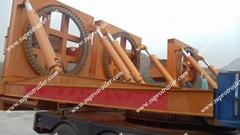 Rotation windmill blade trailer