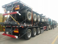 China flatbed trailer