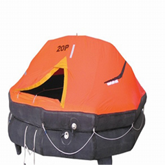 Solas/CE/CCS/ABS approved throw over self righting inflatable raft