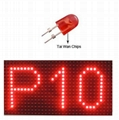 outdoor red color led module p10 panel