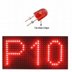 outdoor red color led module p10 panel outdoor single color led panel module