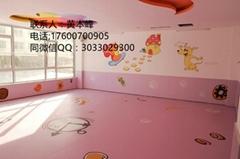 幼儿園地膠 儿童卡通地板 塑料PVC地板