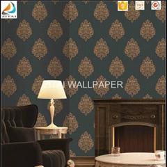 3d commercial cheap washable acrylic coated italian vinyl wallpaper