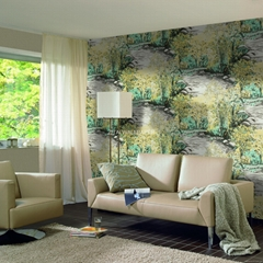 3D vinyl coated waterproof wallcovering for home decoration