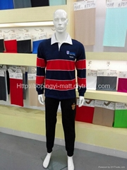 Long sleeve 100% polyester polo t shirt