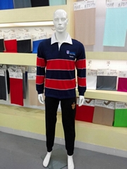 Long sleeve poly cotton