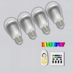 rgb rgbw CE FCC RoHs led bulb led lamp led globe indoor lighting led lighting