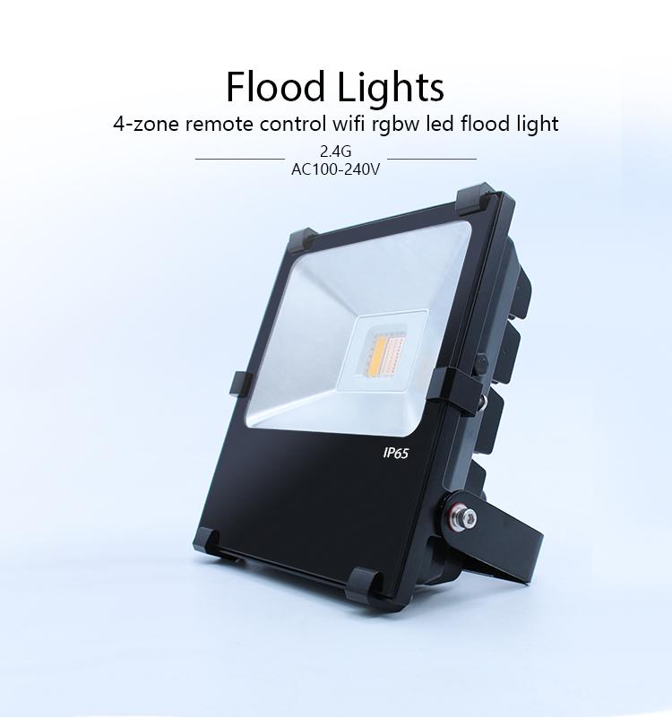 Set of 4 lights RGB Remote Control Garden Landscape Light with Spike Underwater