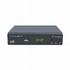 Freesat V7 Terrestrial DVB-T2 Set Top Box Support USB WiFi Dongle